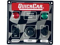Quickcar Ignition Panel -  Switch w/2 Lights & Starter Button