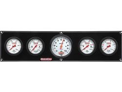 """QuickCar Extreme 4 Gauge Panel - OP/WT/FP/OT with 3"""" Tach"""