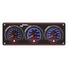 Longacre 44463 SMI 3-Gauge Panel - OP/WT/FP - BK