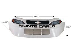ABC NOSEPIECE B&W - Five Star- MONTE CARLO / IMPALA MANUFACTURER: Wht and black