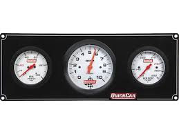 """QuickCar Extreme 2 Gauge Panel - OP/WT with 3"""" Tach"""