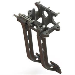 AFCO 6610000 Reverse Mount Dual Swing Brake/Clutch Pedals, 6.25:1 Ratio