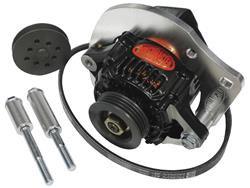 Powermaster Alternator High Mount Kit - V- Belt or Serp
