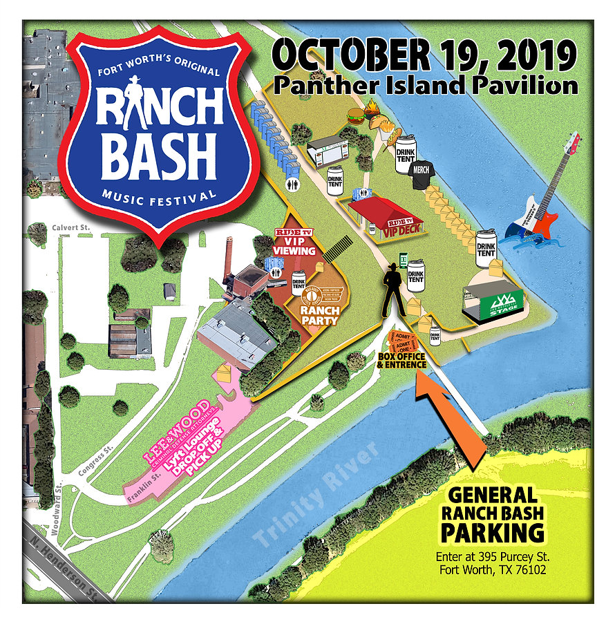 Panther Island PARKING Map 2019