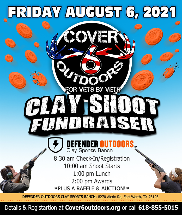 2021 Cover 6 Outdoors Clay Shoot Fundrai