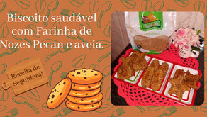 Biscoito com Farinha de Nozes!