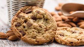 Cookies de amêndoas e chocolate