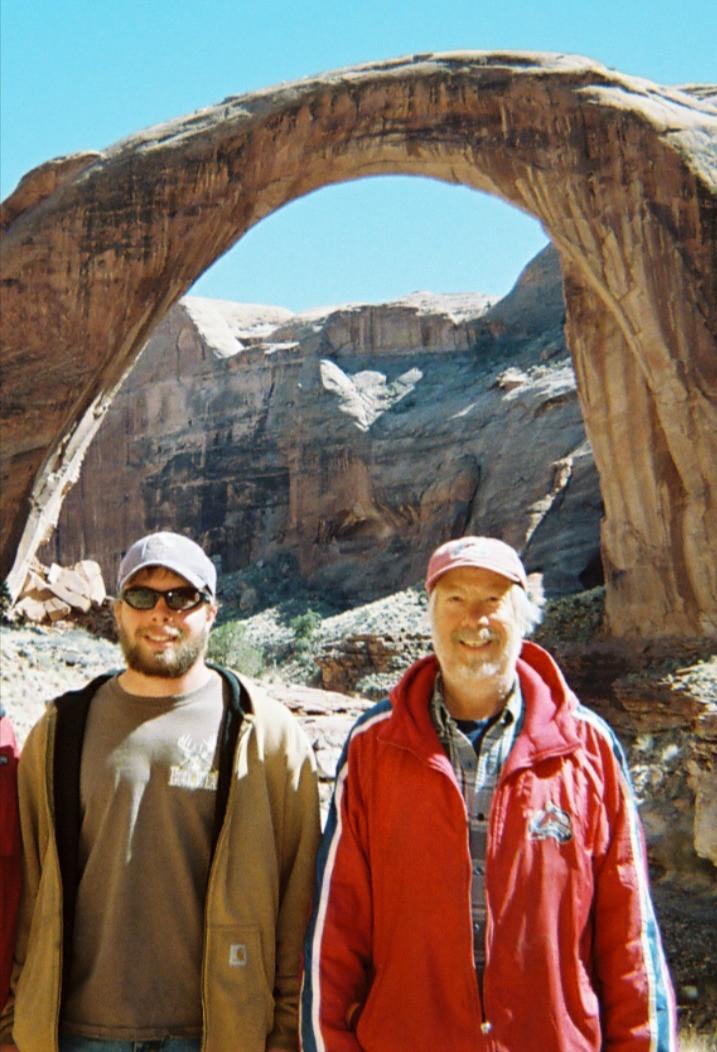 34. Weston and dad in Utah