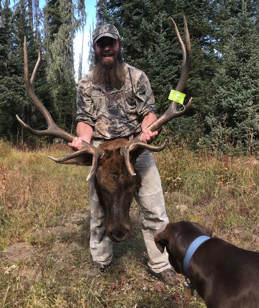 05. Weston with elk and Sammi