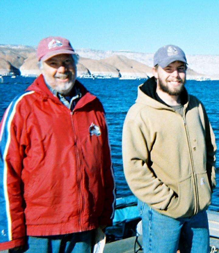 35. Dad and Weston at Lake Powell