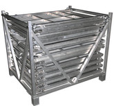 ALUMINUM FOLDING BARRICADE RACK