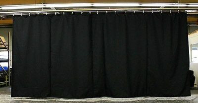 BLACK Duvetene stage panels