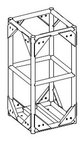 """Series 8 48x24 Corner to 20.5"""" DOWNLEG (BOLTED)"""