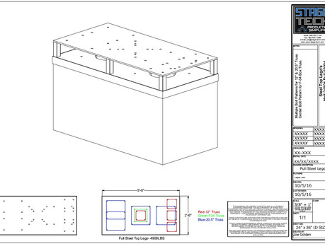 STEEL TOP FULL LEGO 4900 LBS BALLAST