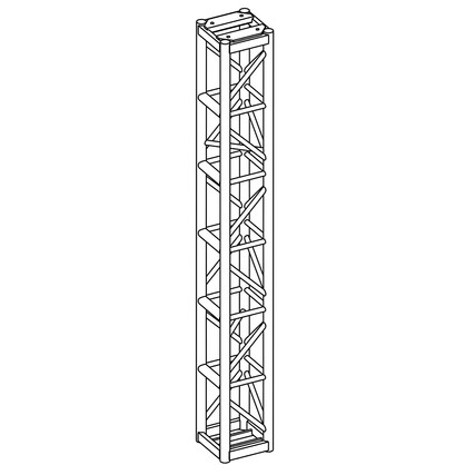 "12"" Box Truss Tower Black"