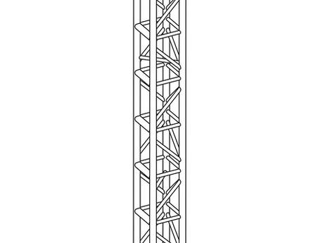 "12"" Box Truss Tower Black"