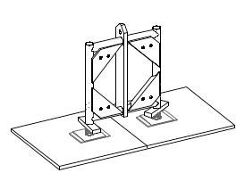 "20.5"" x 20.5"" screwjack adaptor (BOLTED)"