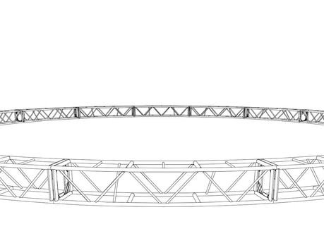 """20.5"""" x 20.5"""" 50' Circle Truss (BOLTED)"""