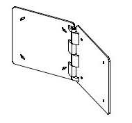 """20.5"""" x 20.5"""" bookend hinge (BOLTED)"""