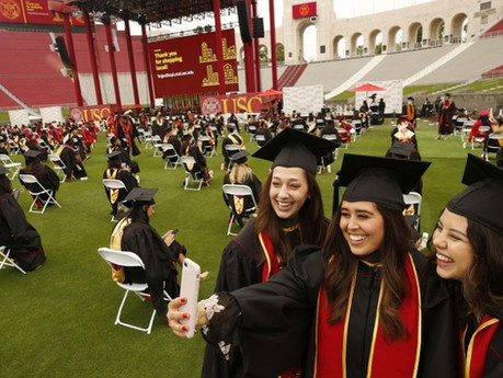 USC hosts Large scale socially distanced commencement!