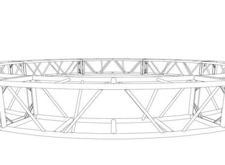 """20.5"""" x 20.5"""" 20' Circle Truss (BOLTED)"""