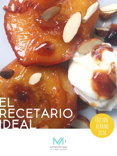 """""""EL RECETARIO IDEAL""""  Edición Verano 2018"""
