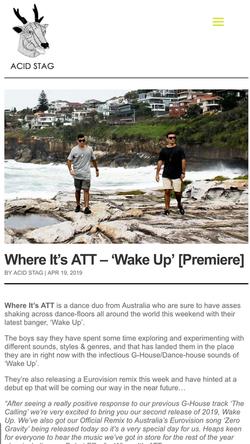 ACIDSTAG - Wake Up WIA Single