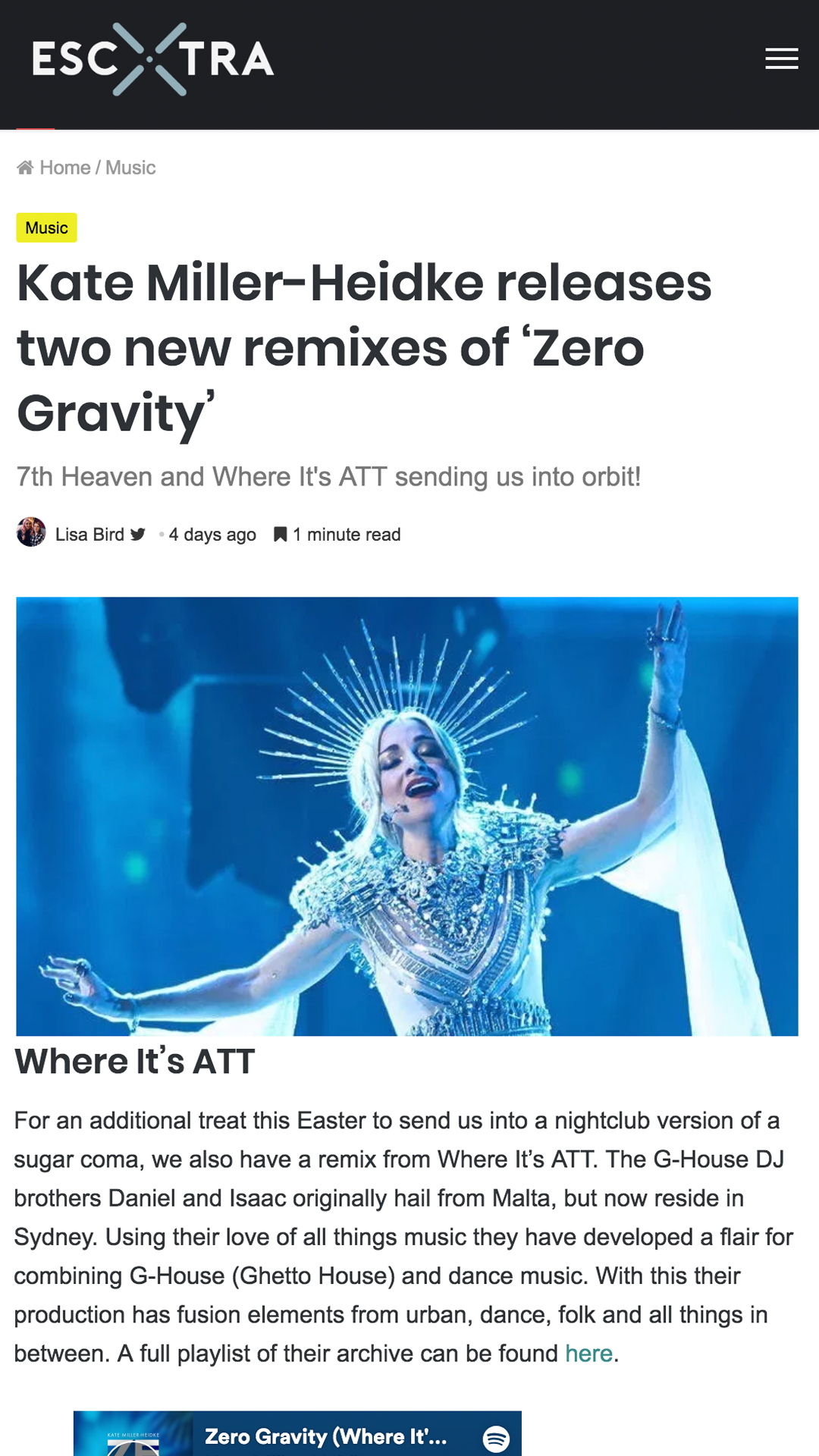 ESCXTRA - Zero Gravity WIA Remix