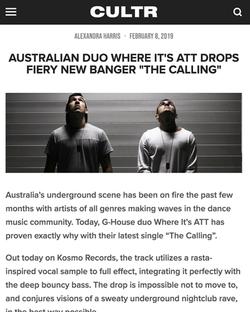CULTR - The Calling - Where It's ATT