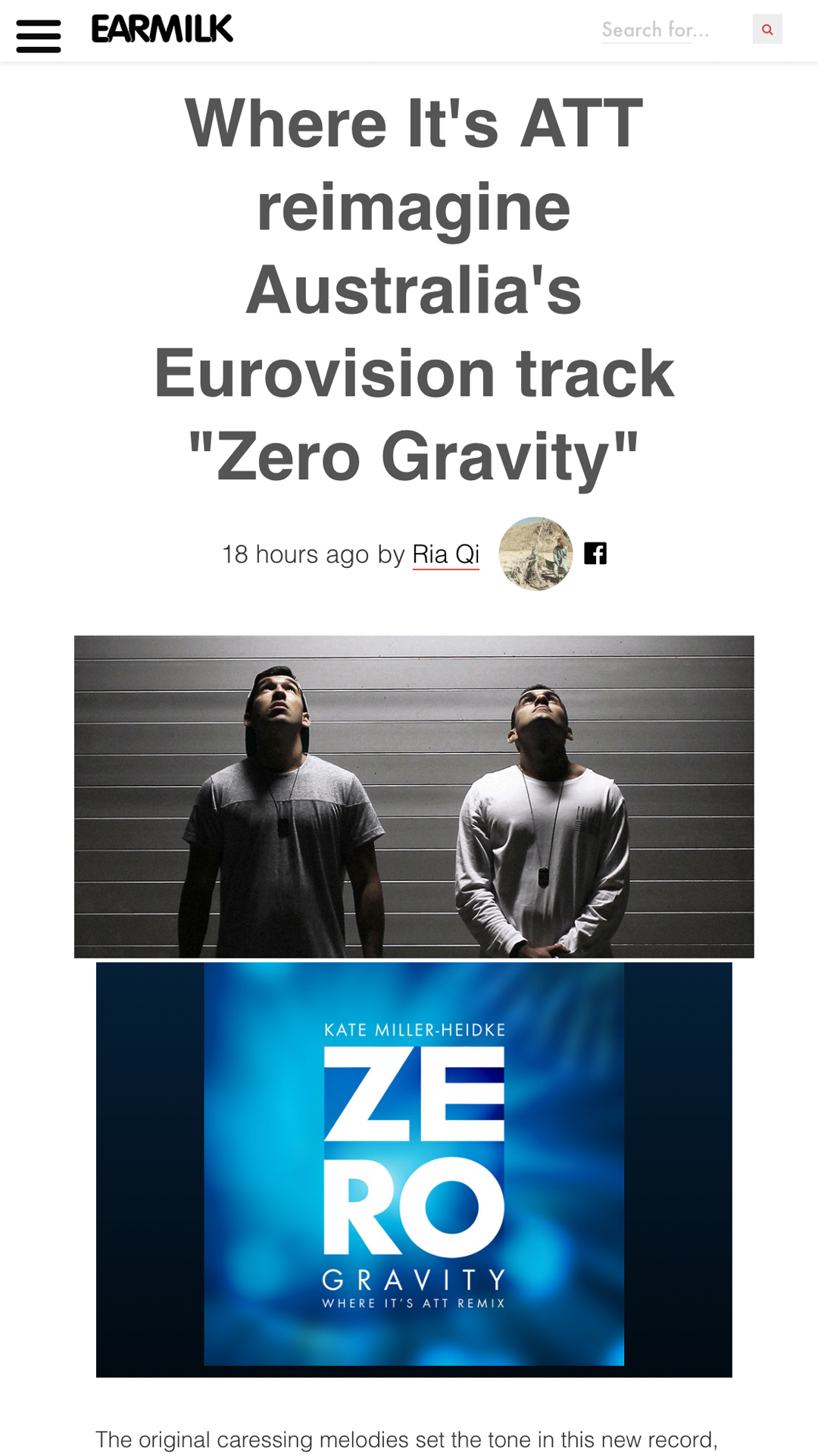 EARMILK- Zero Gravity WIA Remix