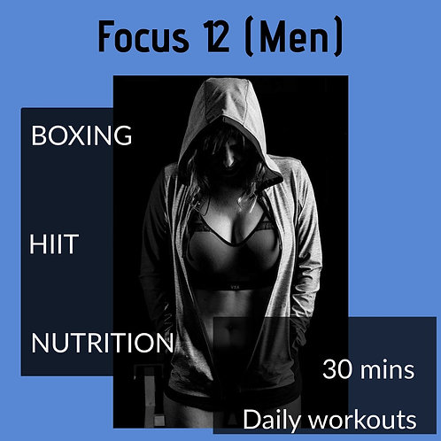 (M) Focus 12 Workout & Nutrition