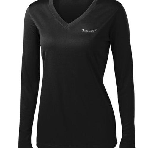 Ladies Long Sleeve V-Neck Moisture Wick Tee (Item # : LST353LS)