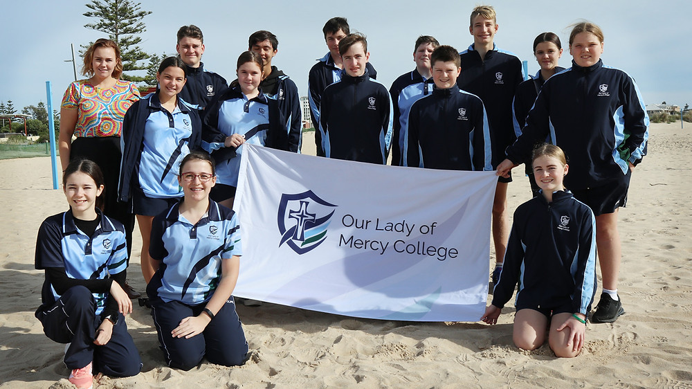 Brooke and students from Our Lady of Mercy College attending National Sorry Day 2021 at Koombana Bay Foreshore.