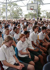 Our students during assembly