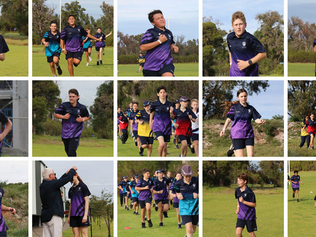 Purple Patch for Hayes at College Cross Country Carnival