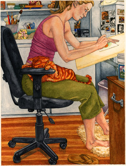 Self Portrait At Desk