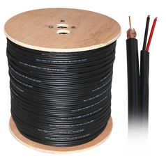 Lexco coaxial cable with DC roll