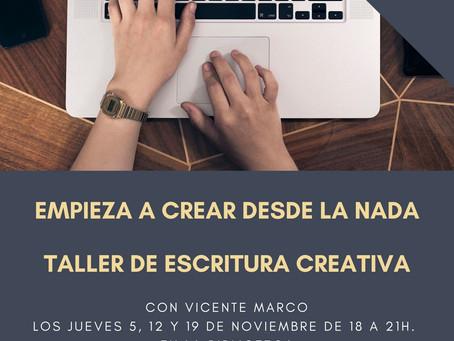 Al final el taller de escritura Náquera ONLINE