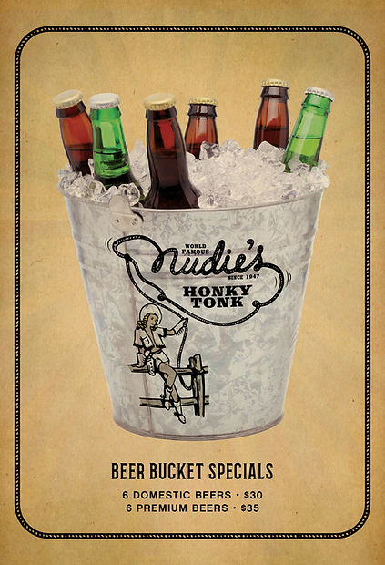 Nudie's Beer menu bucket pricing Dec. 20