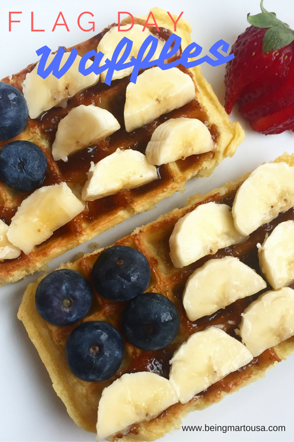 Flag Day Waffles