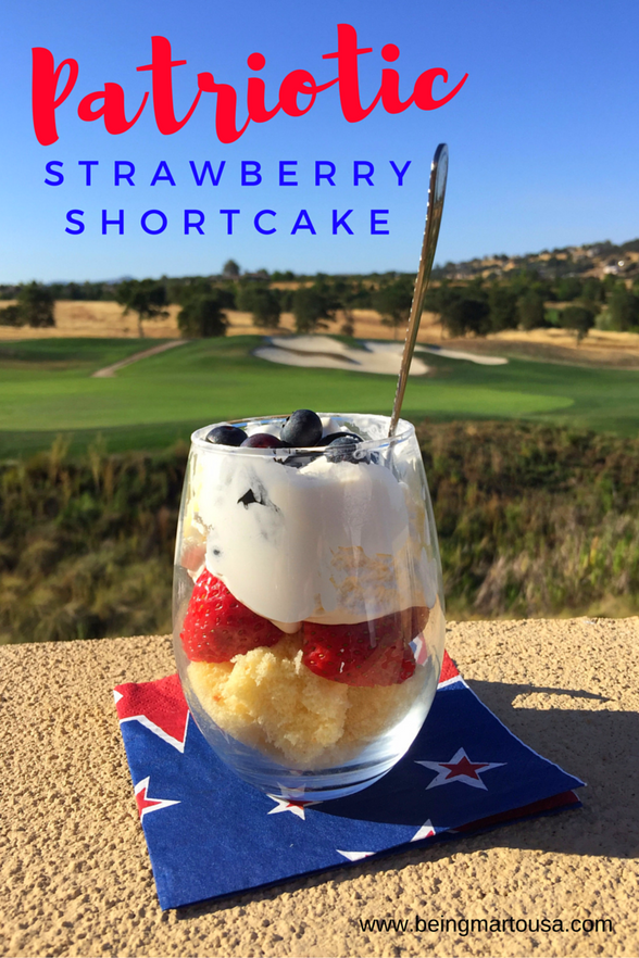 Patriotic Strawberry Shortcake