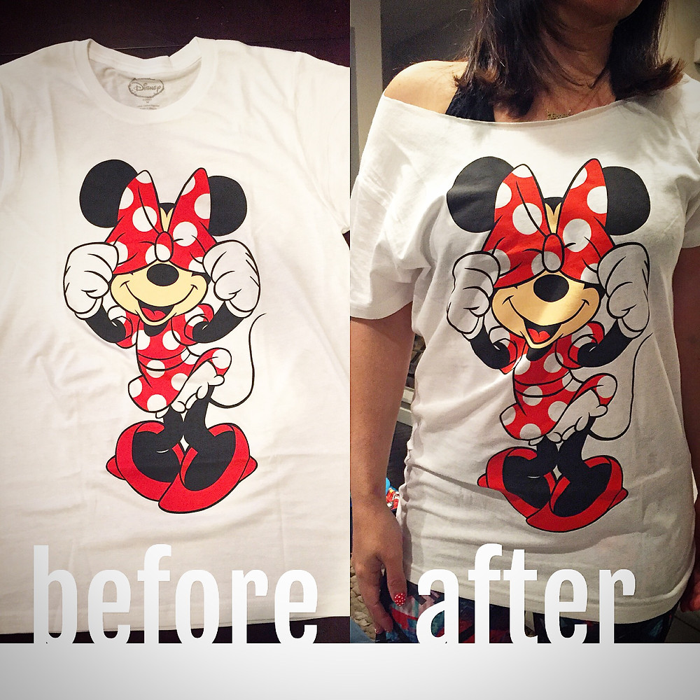 Before and After of the tshirt
