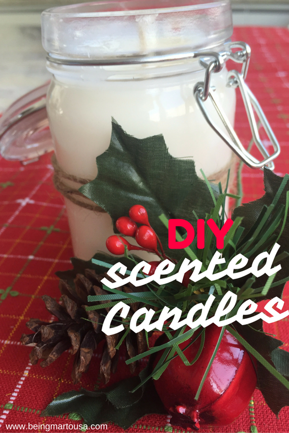 Halfway to Christmas DIY Scented Candles