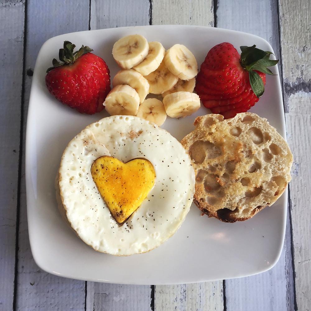 I Heart You Egg Muffin