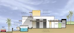 Site Section & Building West Elevation