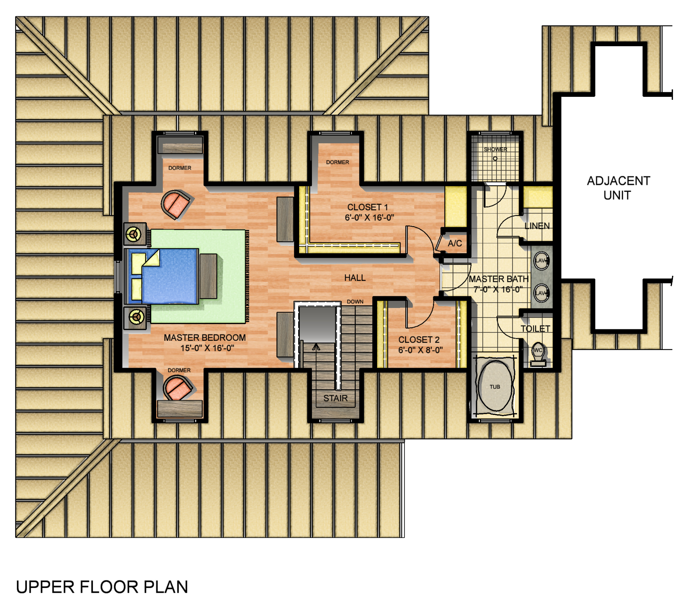 Typical Unit Upper floor plan