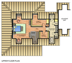 Typical Unit Upper floor plan
