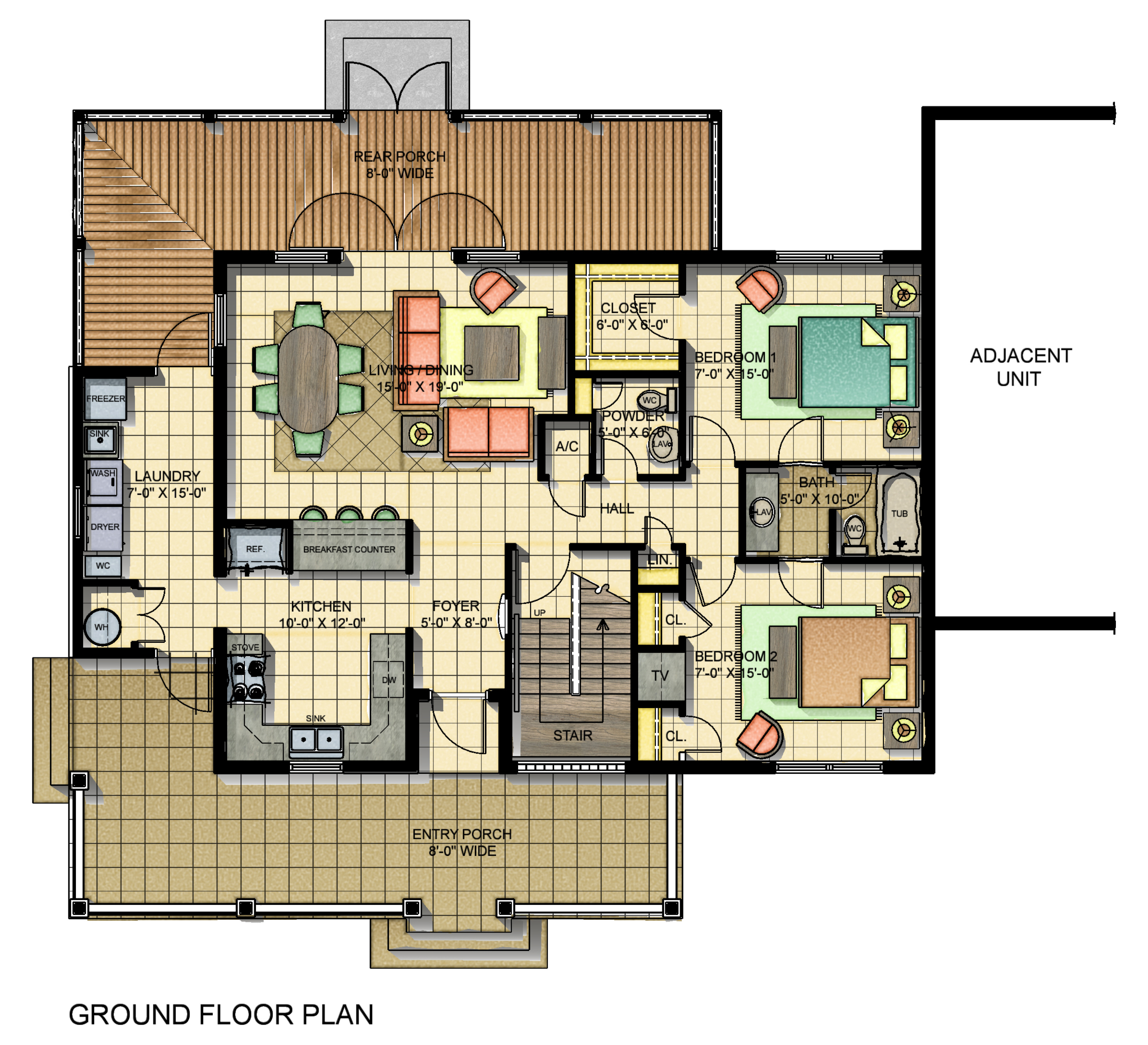 Typical Unit Ground floor plan