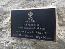 Visite de S.A.S. le Prince Albert II de Monaco à Crest