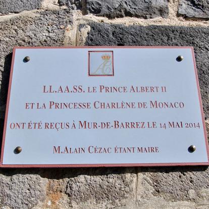 Visite de S.A.S. le Prince Albert II à Mur de Barrez